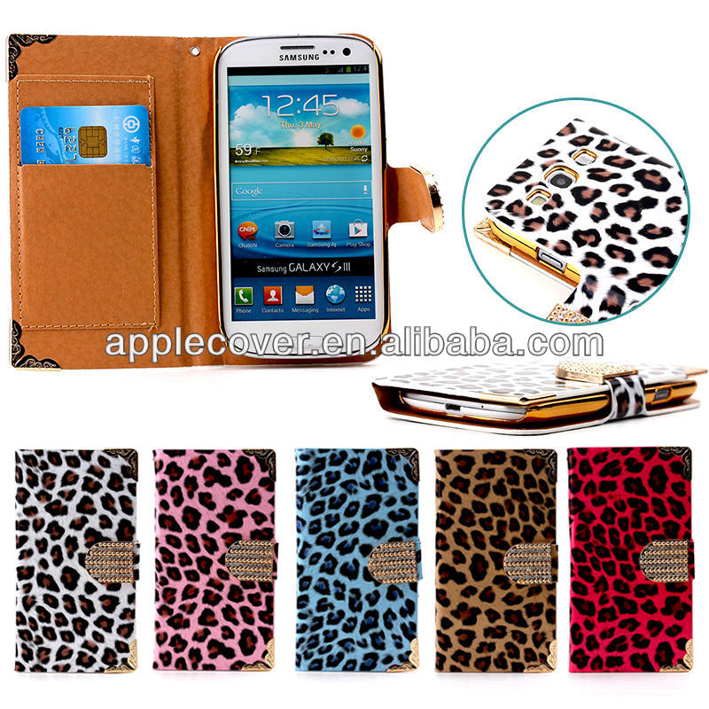 Leopard & Bling Case for Samsung S3,For Samsung Galaxy S3 Cases