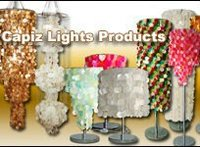 Capiz Shell Floor Lamps Lighting Fixture Collection