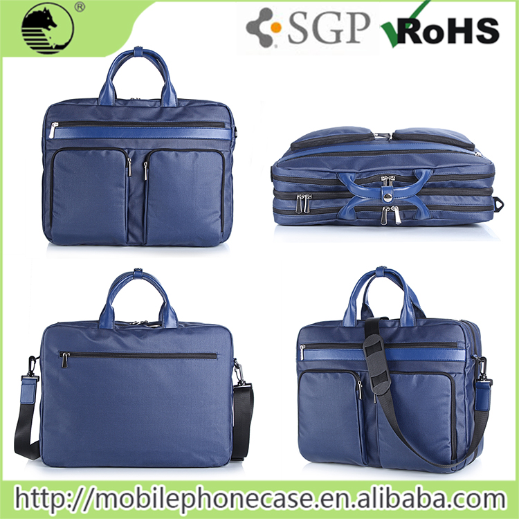Wholesale Fashionable Blue Laptop Office Bag