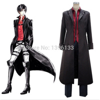 Attack on Titan: Wings of Counterattack Online Shingeki no Kyojin Eren Yeager Cosplay Costume Rivaille Men's Miitary Uniform