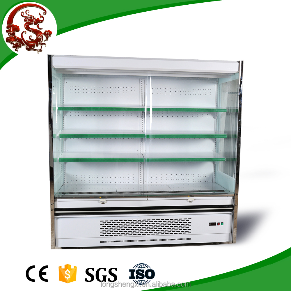 Long type supermarket drink cooler with air curtain