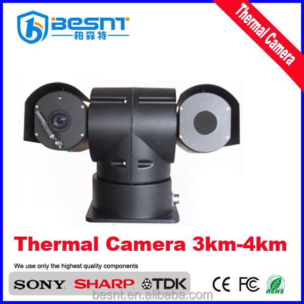 Auto tracking motion detection PTZ vehicle long rang 36x optional zoom infrared thermal imaging camera prices BS-N298