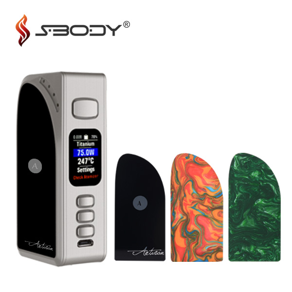 2017 stylish Artisan dna 75 color 18650 battery tc box mod