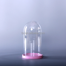 bell shape glass cloche with base
