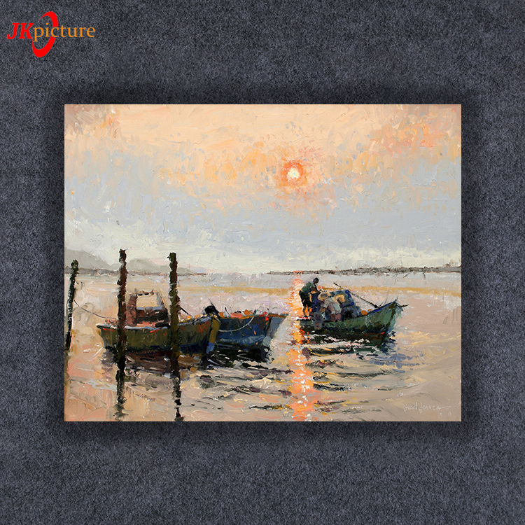2018 Natural Scenery Handmade The Sunset art oil painting on canvas