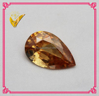 pear shape champagne synthetic gem stone