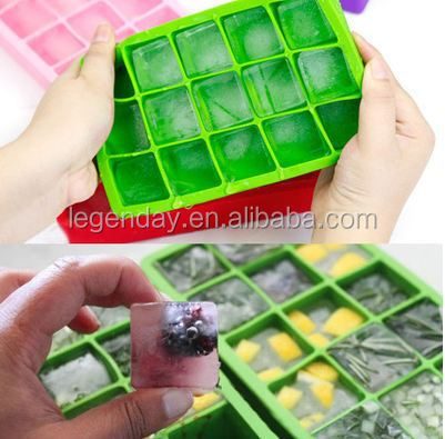 Eco-friendly high Quality Jumbo FDA Silicone Ice Cube Tray