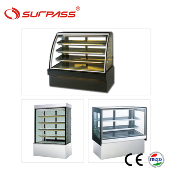 Commercial bakery display showcase cake fridge shop counter design glass cabinets