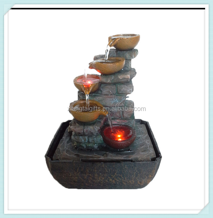 Indoor artificial pot fountain waterfalls