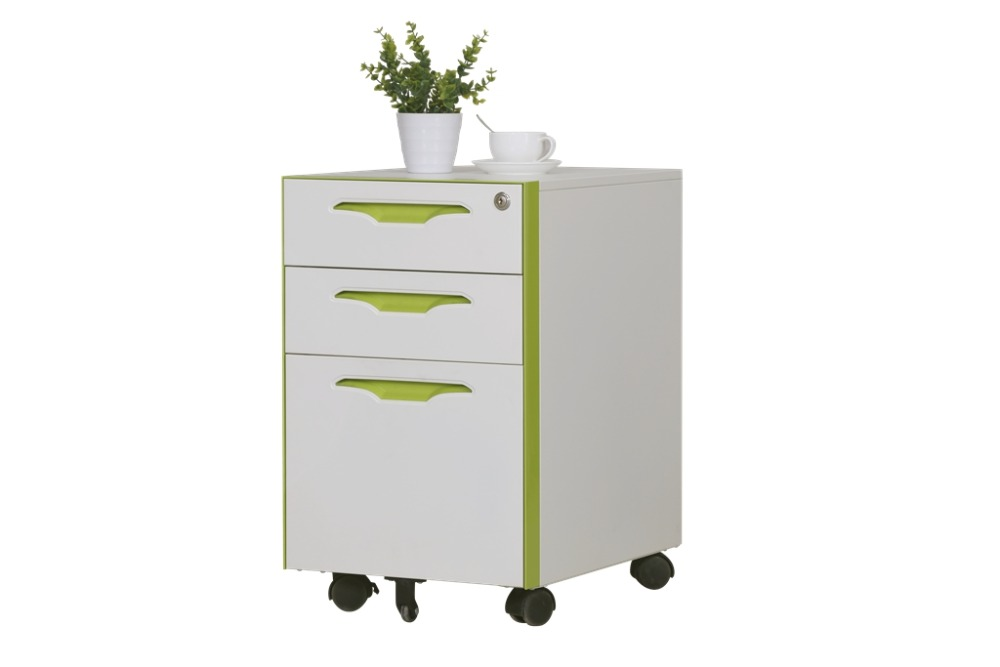 Hot-sell mobile pedestal 3 drawer office hanging file storage cabinet with adjustable wheels