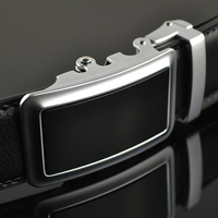 ab197 Men`s Leather Changeable Buckle Leather Belt without hole