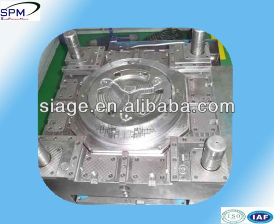 FDA approval plastic injection frisbee mould in shanghai