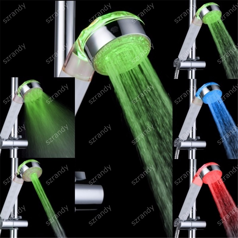 temperature sensor 3 colors shower head led light LD8008-A20