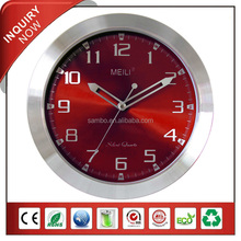 [MEILI] 12 Inch Metal Wall Texture Clock