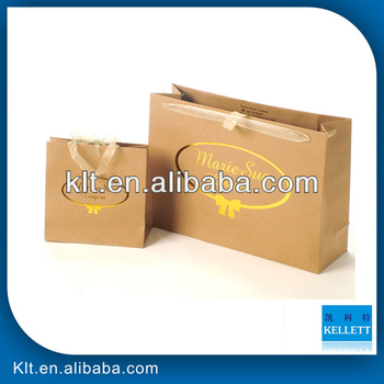 Gold stamping kraft eco paper bag
