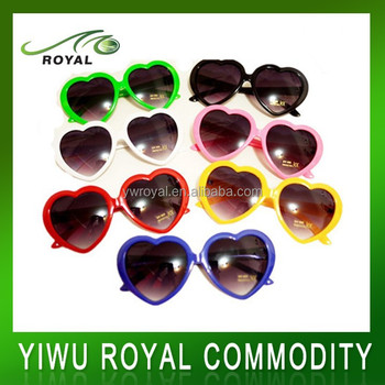 Colorful Funky Sun Shade Heart Shaped Party Glasses