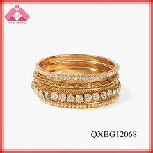 fashion gold bangle pictures(QXBG12068)