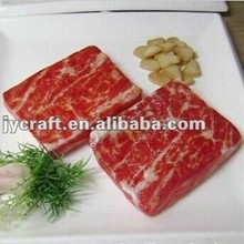 Plastic food model fake beef meat