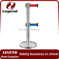 High quality dual retractable belt handrail stanchions