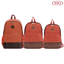 Custom canvas backpacks laptop bagpack with 3 different size suit for 13-15'' laptop