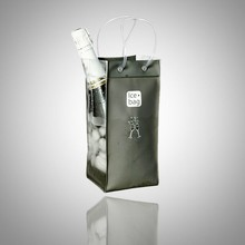 New Customized High Quality Cheap Plastic Clear PVC Wine Bag
