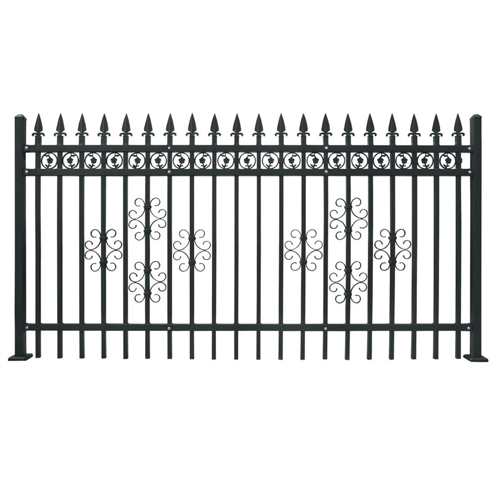 Euro Style Free Standing Metal Palisade Fence / Wrought Iron Fence Panel (Hebei factory )