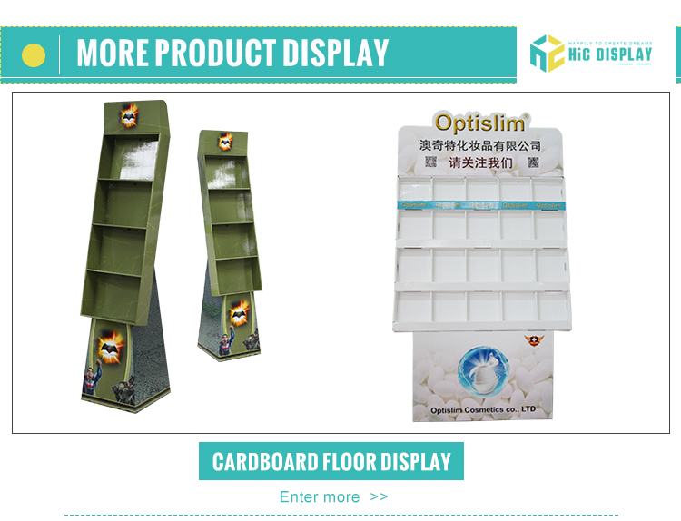 stackable pallet cardboard display in supermarket