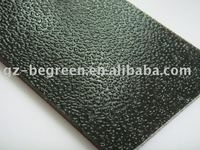 Dark green PC embossed solid sheet, decorative solid board for real estate project, custome-made PC sheet