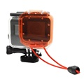 For GoPro Accessories Red Filter for Original GoPro Hero 6 5 Waterproof Case with Strap