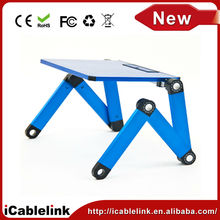 Adjustable Vented Folding Aluminum Laptop Notebook PC Table Desk Portable Tray,Folding Table desk for Bed, Sofa