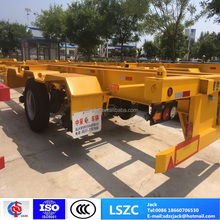 Factory Manufacture 20ft 40ft Skeletal Container Chasis Semi Trailer