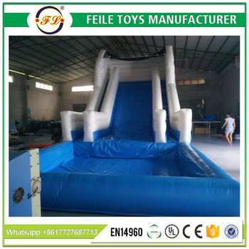 2017 large 22ft inflatable water slide with big pool