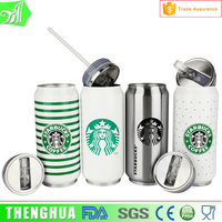 Starbucks energy drink water bottle stainless steel water bottle with straw lid