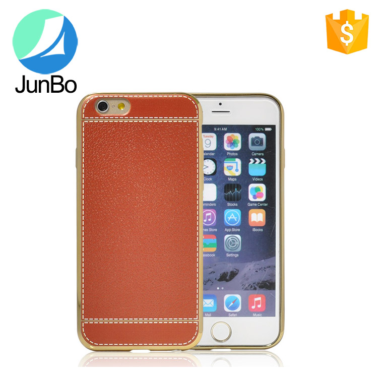 2016 new arrival leather phone case for iphone 6 electronic pc bumper case