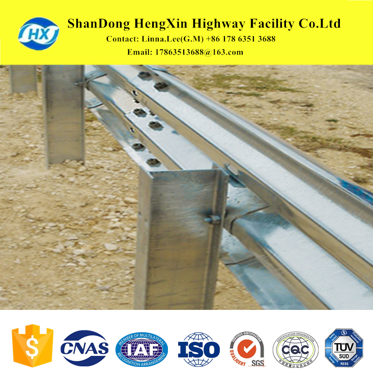 tree wave-shaped steel crash barrier and w beam guardrail for traffic safety facilites