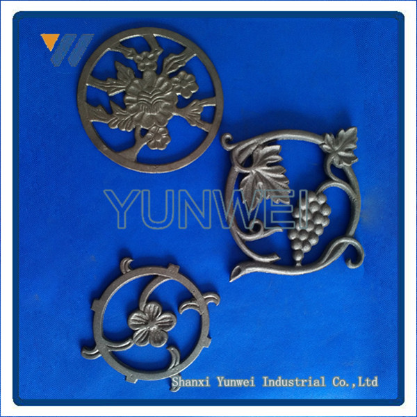 Prime Quality Wrought Iron Flowers Stamping Components For Sliding Main Gate