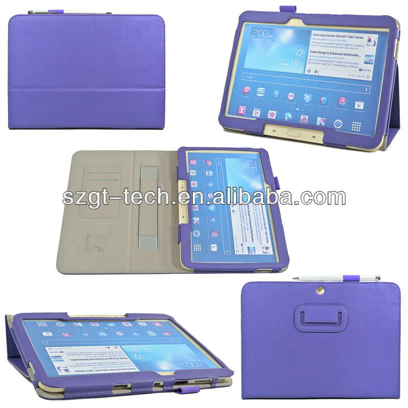 Wallet slots inside and pen holder cases for Samsung Tab3