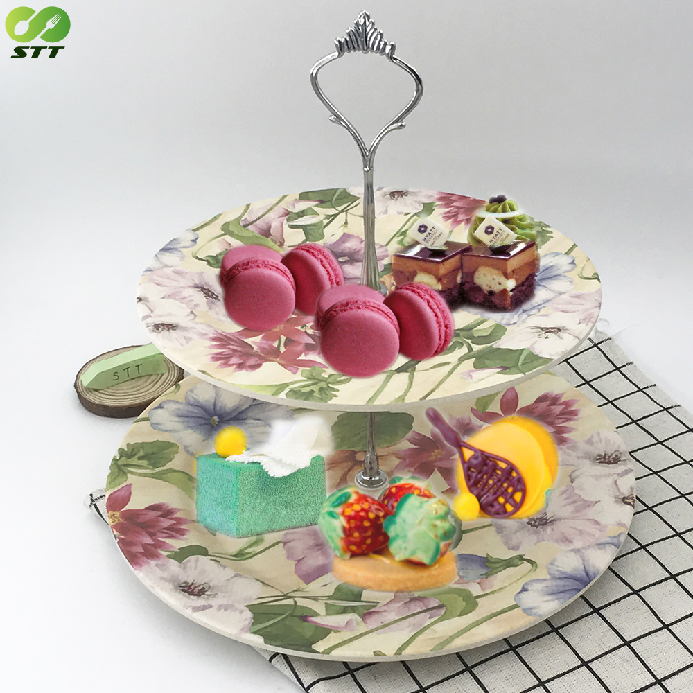 2-tier Bamboo Fiber Plates Stand Fruits Cakes Desserts Candy Buffet Stand For Wedding u0026homeu0026party Afternoon Tea - Buy Modern Fruit RackDinner Plate Racks2 ...  sc 1 st  Alibaba & 2-tier Bamboo Fiber Plates Stand Fruits Cakes Desserts Candy Buffet ...
