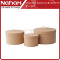 NAHAM House Round Gift Jewelry Storage Paper Box
