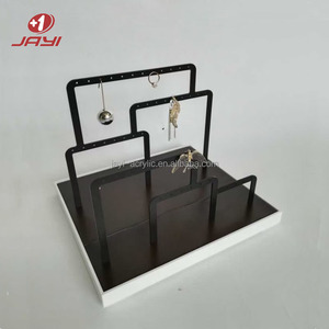 BSCI factory OEM custom wooden acrylic jewelry display stand