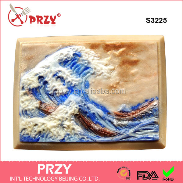 S3225 GREAT WAVE SOAP soap moulds handmade silicone sea soap mold