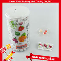Fruit Flavor Center Filled Soft Ball Milk Candy