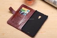 Magnetic Wallet Flip PU Magnetic Wallet Stand PU leather Case Cover Card holder for Huawei Ascend Mate 2