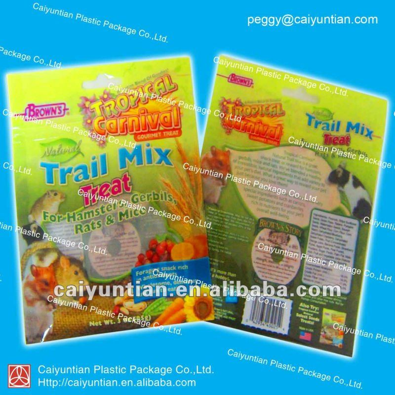 Animal nutrient food bags /food bags with zipper/PVC plastic bags for animal food