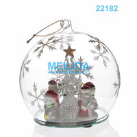Led christmas lights ball with 4 snowmen