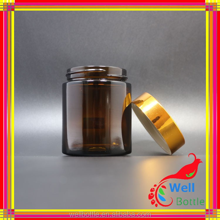Fashion design wholesale salsa jars acrylic cosmetic jar glass jar with screw top lid