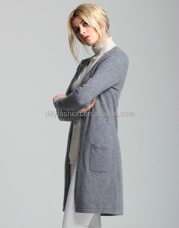 Knitting Pattern Womens Basic Slim Long Cardigans - Buy Long ...