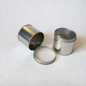 Wholesale small metal round candle tin containers buy for Small tin containers