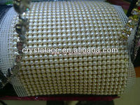 Crystal rhinestone trimming mesh wedding dress accessory