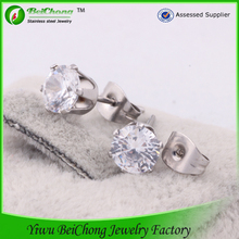 hot sale clear crystal rhinestone ladies studex ear piercing